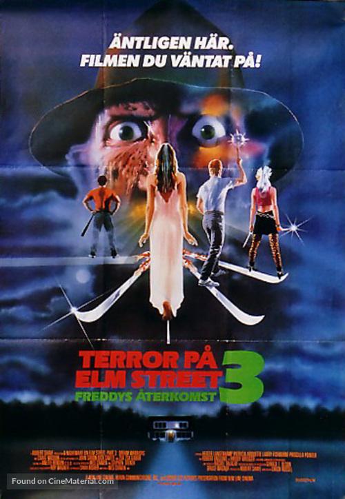 A Nightmare On Elm Street 3: Dream Warriors - Swedish Movie Poster