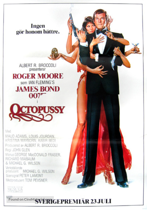 Octopussy - Swedish Movie Poster