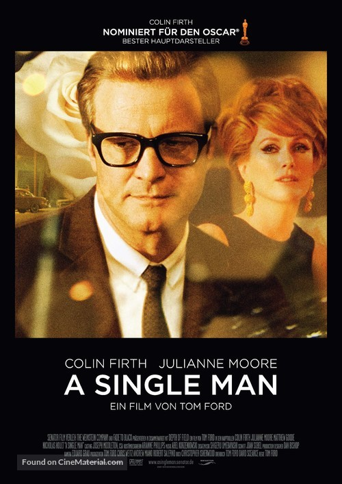 A Single Man - German Movie Poster