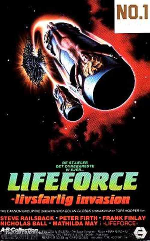 Lifeforce - Danish VHS movie cover