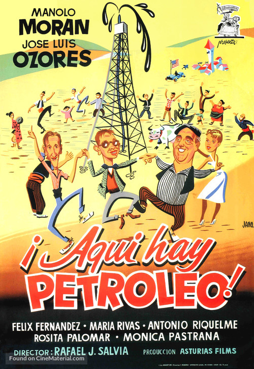 ¡Aquí hay petróleo! - Spanish Movie Poster
