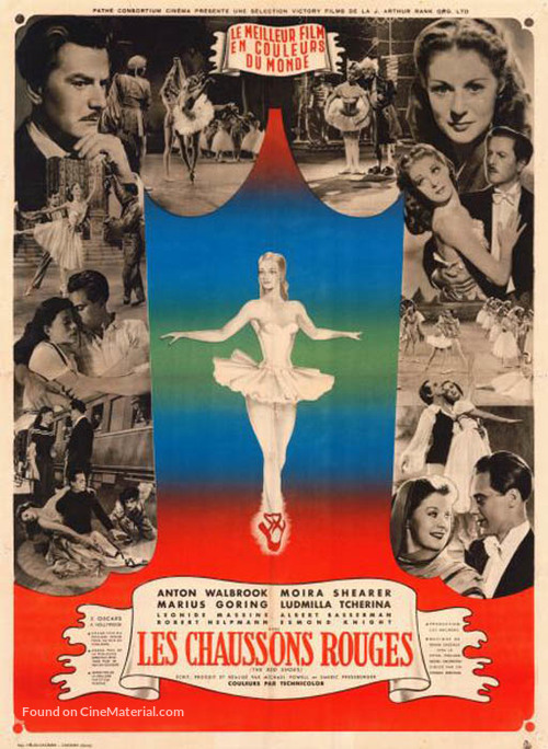 The Red Shoes - French Movie Poster