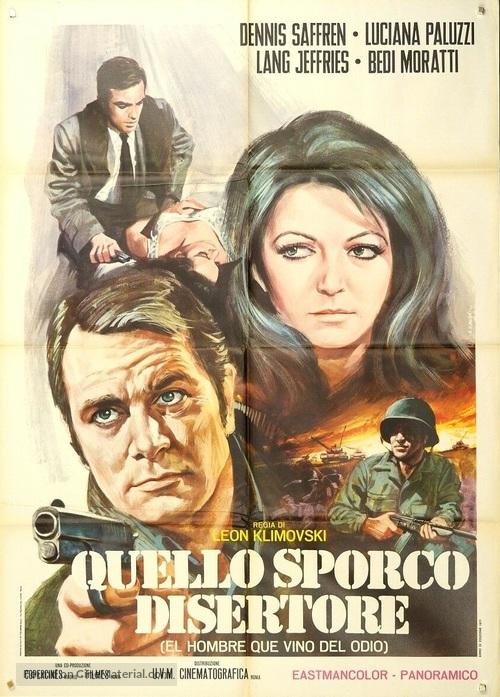 El hombre que vino del odio - Italian Movie Poster
