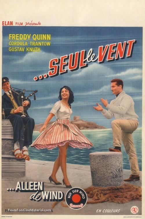 Nur der Wind - Belgian Movie Poster