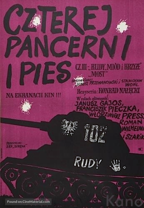 """Czterej pancerni i pies"" - Polish Movie Poster"
