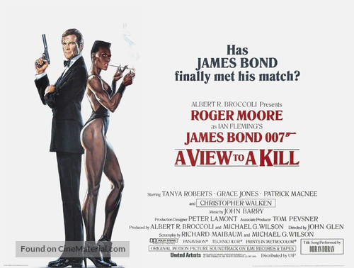 A View To A Kill - British Movie Poster