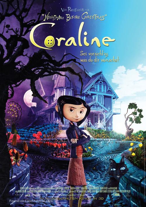 Coraline - German Movie Poster