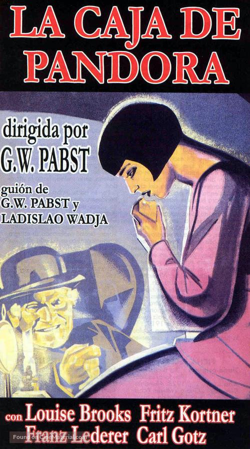 Die Büchse der Pandora - Spanish Movie Cover