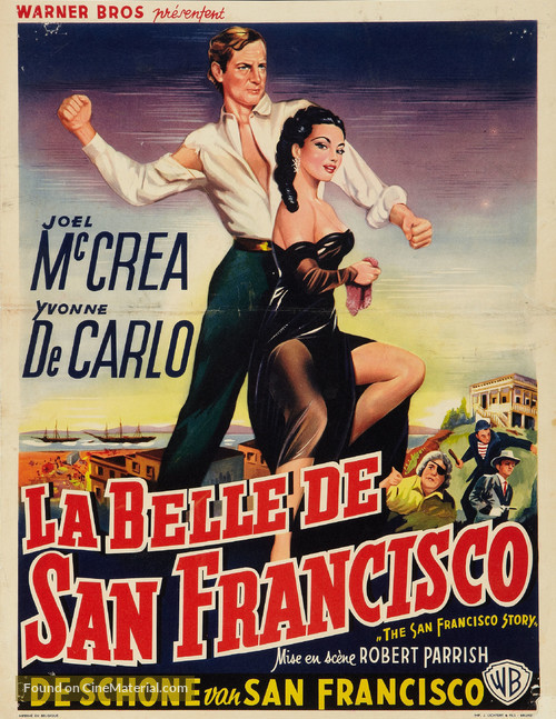 The San Francisco Story - Belgian Movie Poster