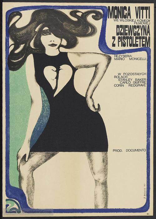 La ragazza con la pistola - Polish Movie Poster