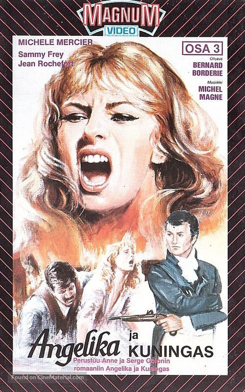 Angélique et le roy - Finnish VHS movie cover
