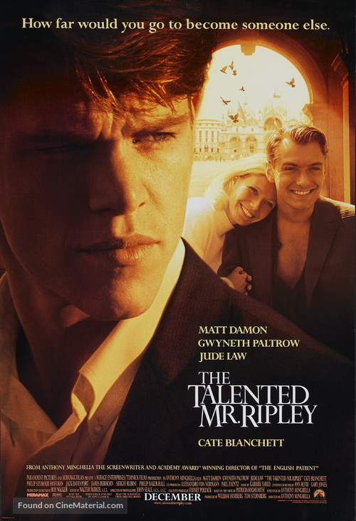 The Talented Mr. Ripley - Movie Poster