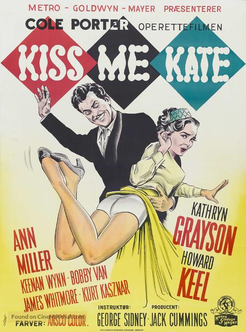 Kiss Me Kate - Danish Movie Poster