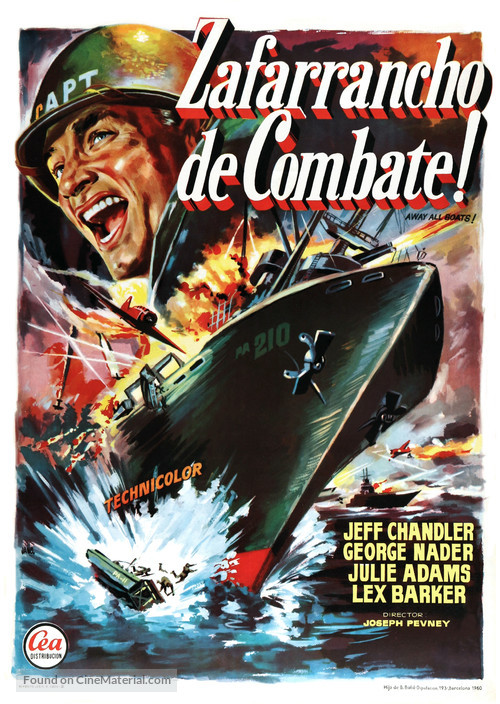 Away All Boats - Spanish Movie Poster