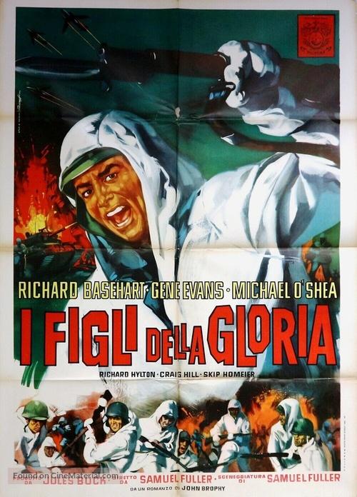 Fixed Bayonets! - Italian Movie Poster