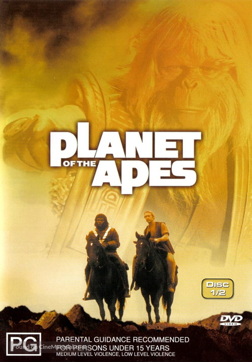 """""""Planet of the Apes"""" - Australian DVD movie cover"""