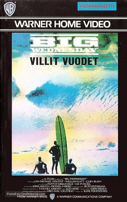 Big Wednesday - Finnish VHS movie cover