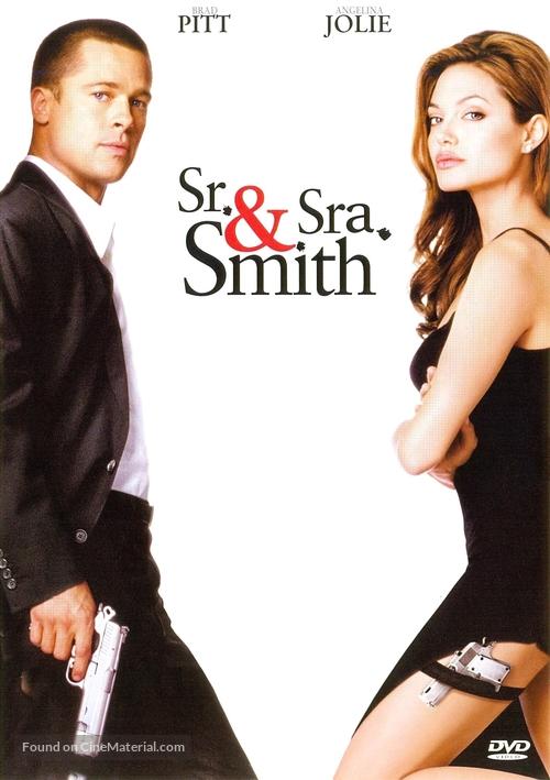 Mr Mrs Smith 2005 Brazilian Dvd Movie Cover