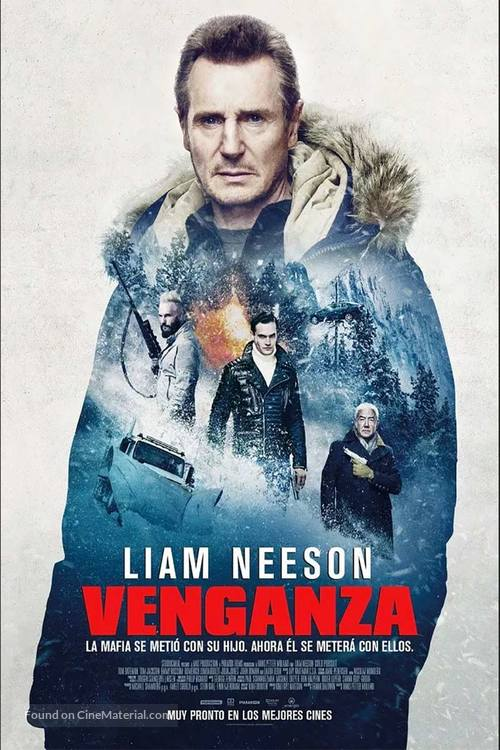 Cold Pursuit - Colombian Movie Poster