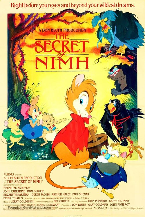 The Secret of NIMH - British Movie Poster