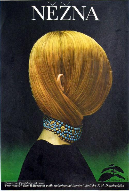 Une femme douce - Czech Movie Poster