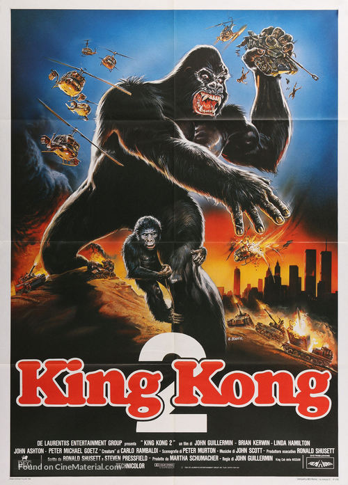 King Kong Lives - Italian Movie Poster