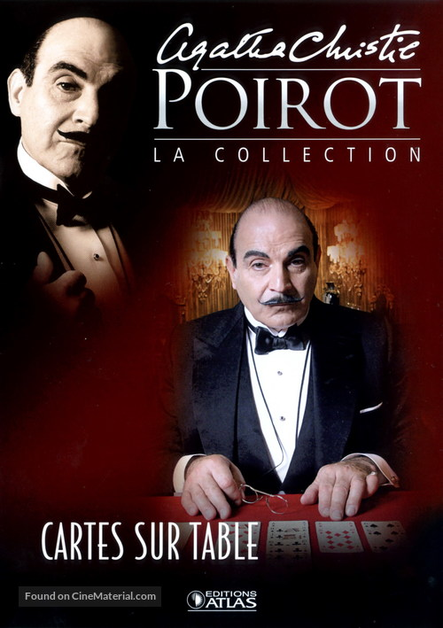 """""""Poirot"""" Cards on the Table - French poster"""