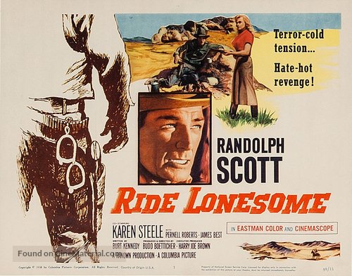 Ride Lonesome - Movie Poster