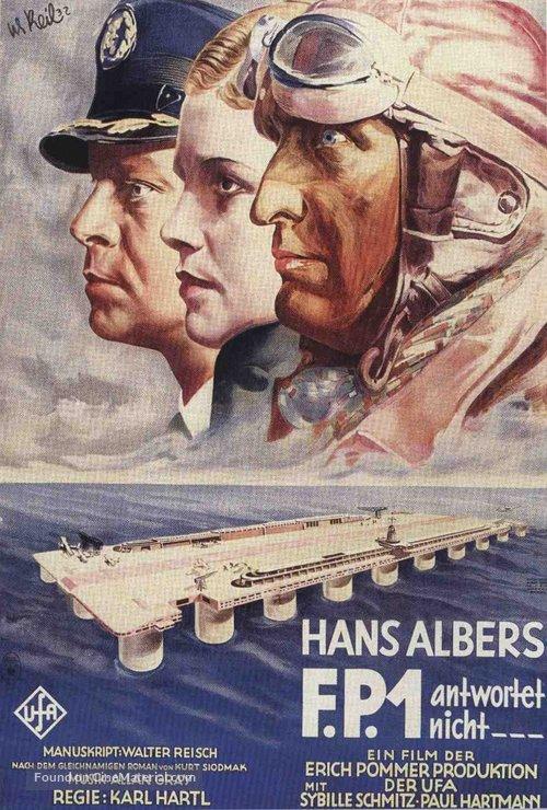 F.P.1 antwortet nicht - German Movie Poster