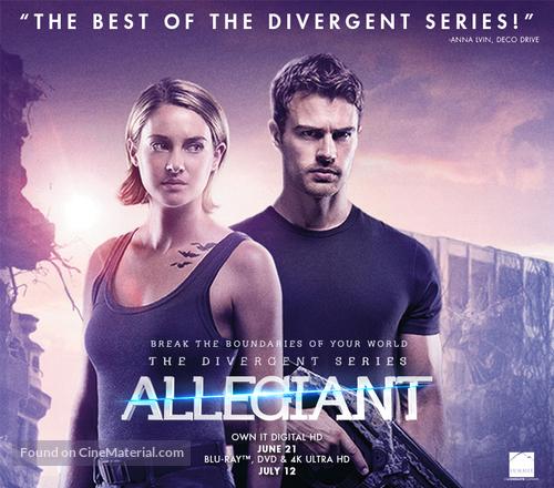 The Divergent Series Allegiant 2016 Movie Poster
