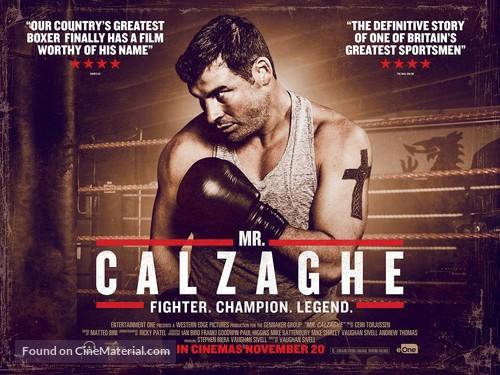 Mr Calzaghe - British Movie Poster