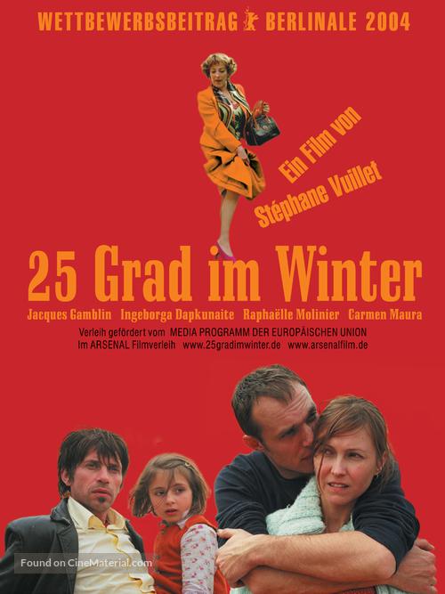 25 degrés en hiver - German poster