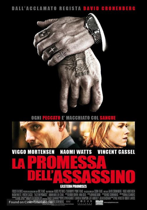 Eastern Promises - Italian Movie Poster