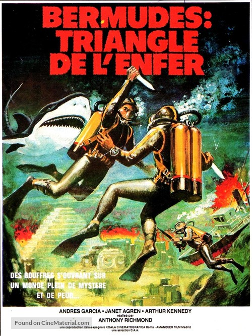Bermude: la fossa maledetta - French Movie Poster