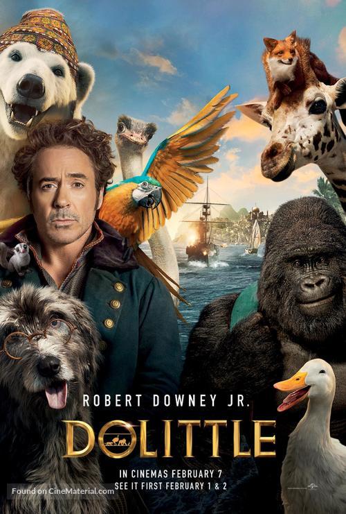 Dolittle - British Movie Poster