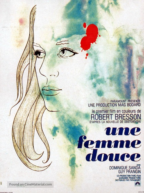 Une femme douce - French Movie Poster