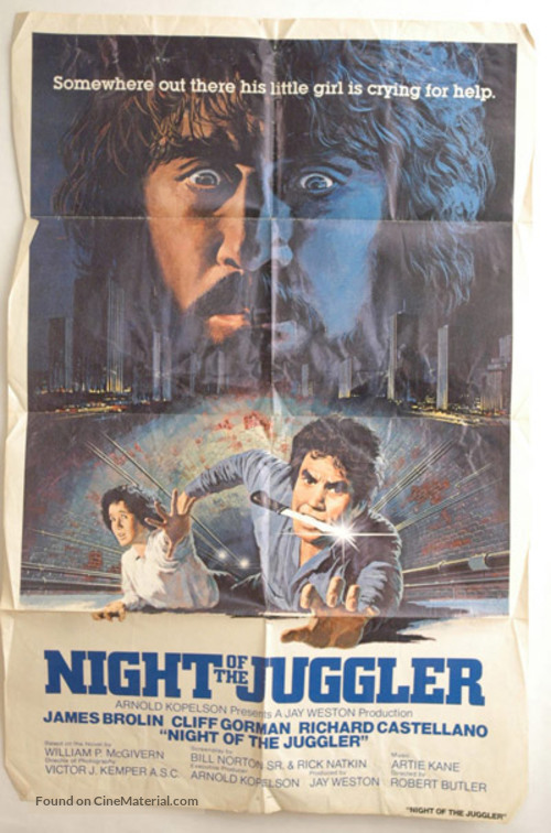 Night of the Juggler - Movie Poster