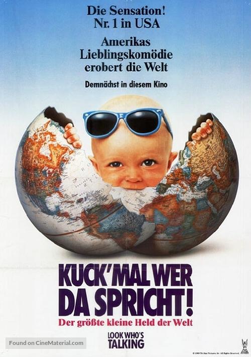 Look Who's Talking - German Movie Poster