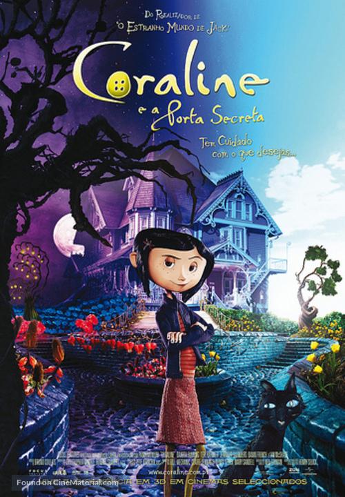 Coraline - Portuguese Movie Poster