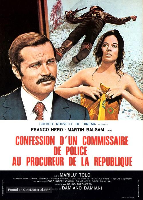 Confessione di un commissario di polizia al procuratore della repubblica - French Movie Poster