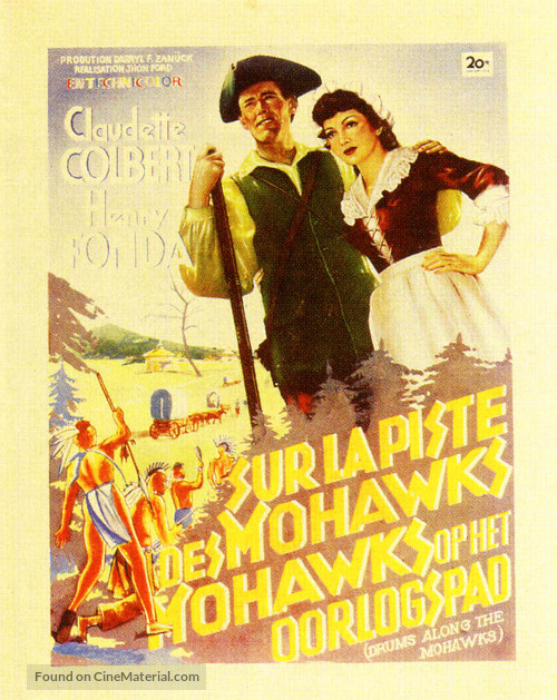 Drums Along the Mohawk - Belgian Movie Poster