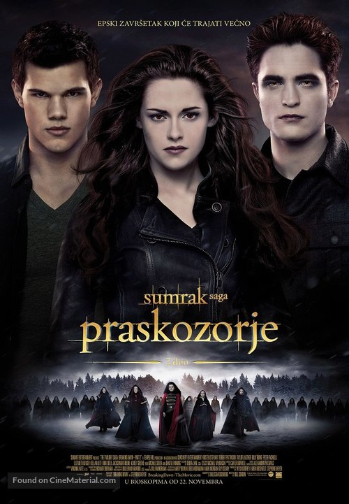 The Twilight Saga: Breaking Dawn - Part 2 - Serbian Movie Poster