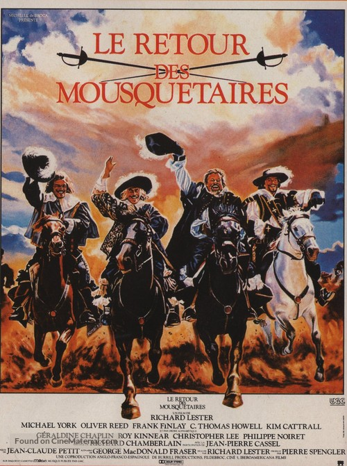 The Return of the Musketeers - French Movie Poster