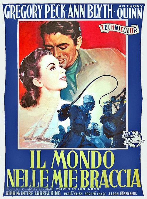 The World in His Arms - Italian Movie Poster