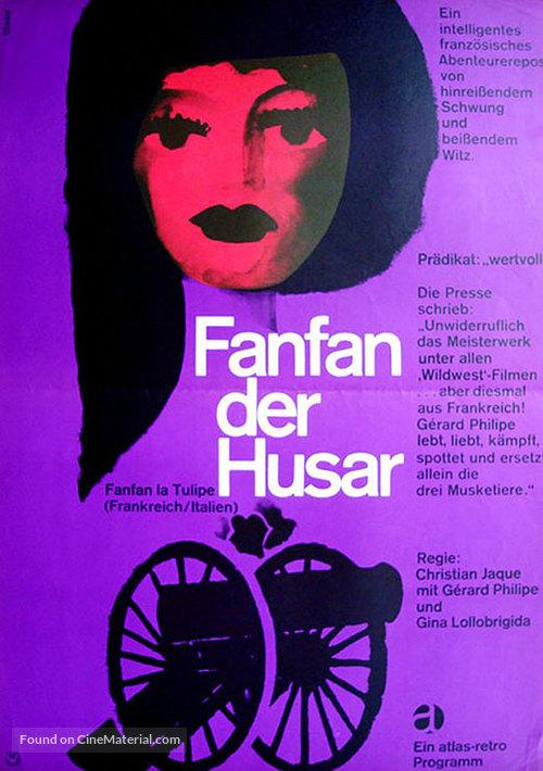 Fanfan la Tulipe - German Movie Poster