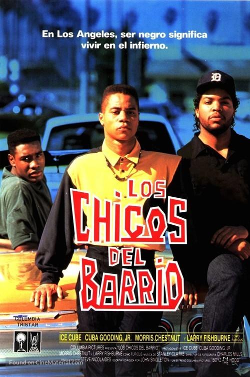 Boyz N The Hood - Spanish VHS movie cover