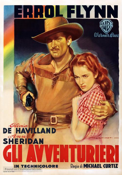 Dodge City - Italian Movie Poster