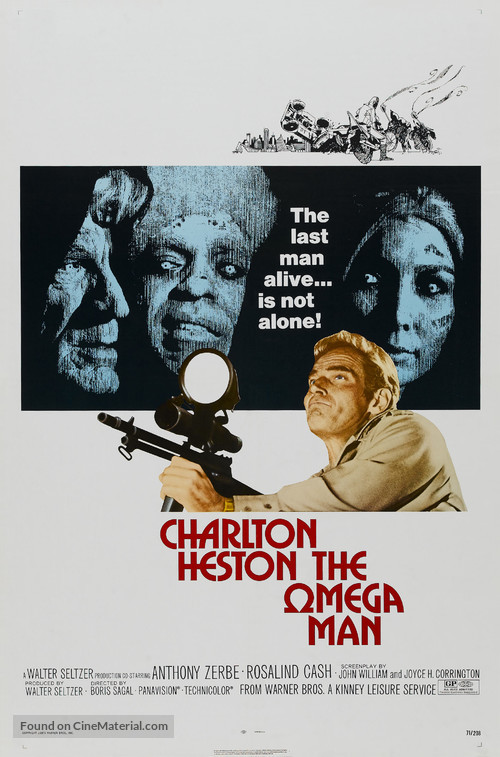 The Omega Man - Theatrical movie poster