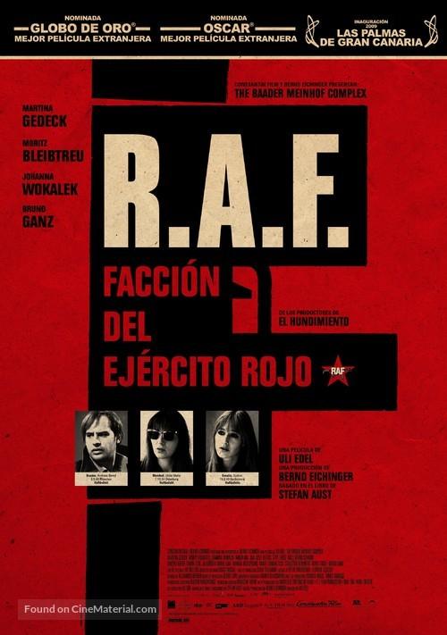 Der Baader Meinhof Komplex - Spanish Movie Poster