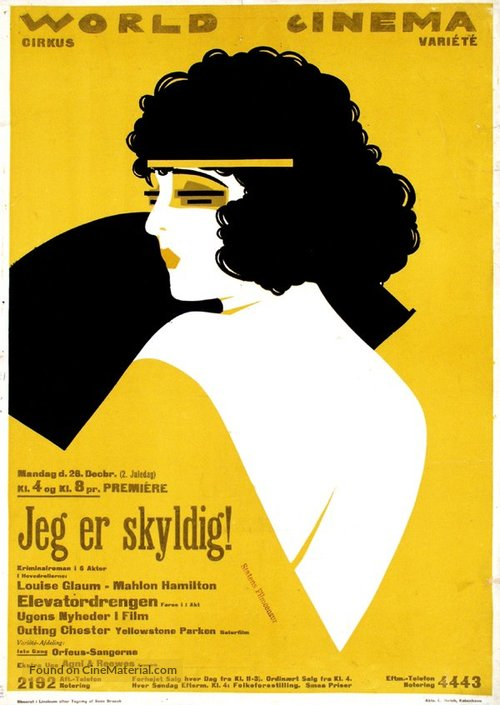 I Am Guilty - Danish Movie Poster